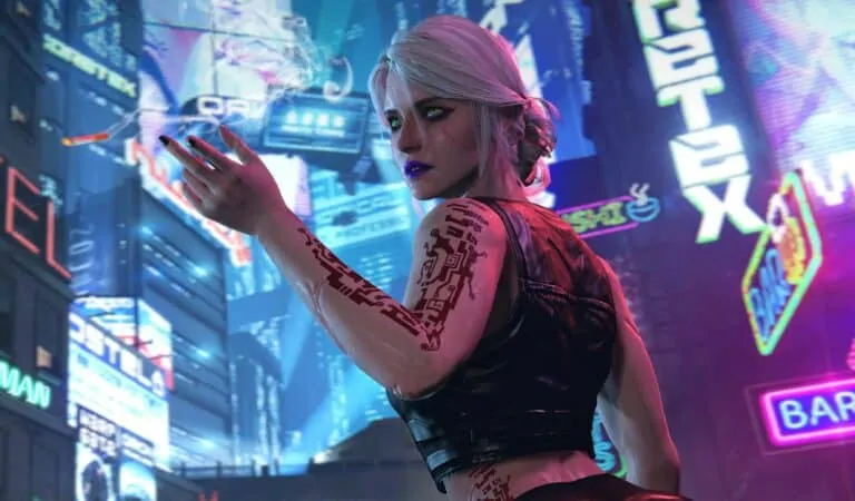 Ciri from The Witcher 3 in the Night City (Easter Egg)