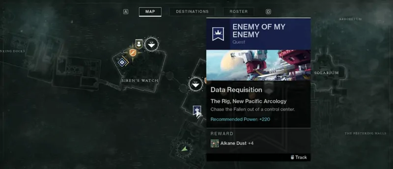 Location of the 'Enemy of My Enemy' Quest