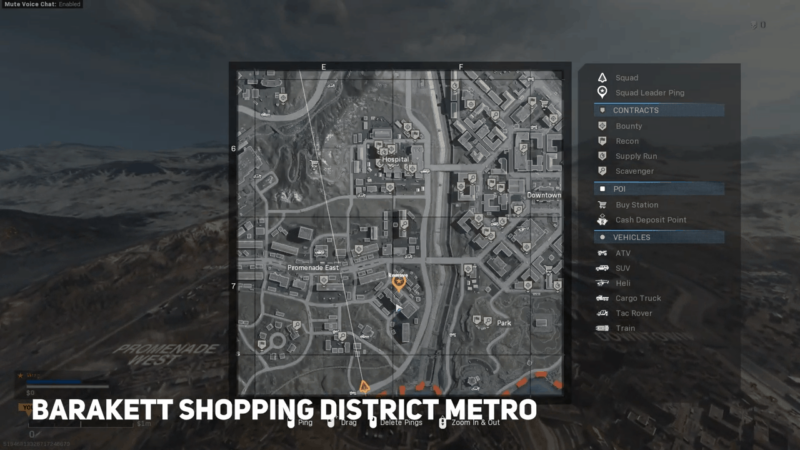 Barakett Shopping District Subway Stationon Map
