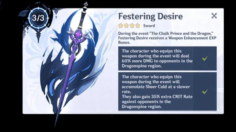 Genshin Impact Festering Desire