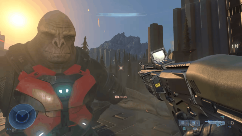 A Still From Halo Infinite Campaign Gameplay Demo