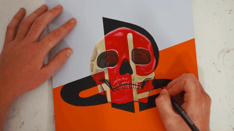 Callum Warren Art's Handpainted PS5