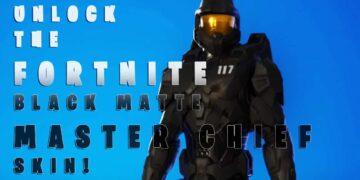 Master Chief Fortnite Matte Black Unlock