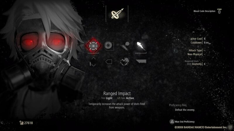 Ranged Impact is of the Best Ranged Gifts in Code Vein