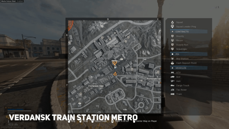 Verdansk Train Subway Station on Map