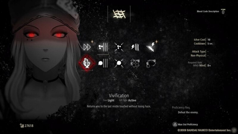Vivification is of the Best Exploration Gifts in Code Vein