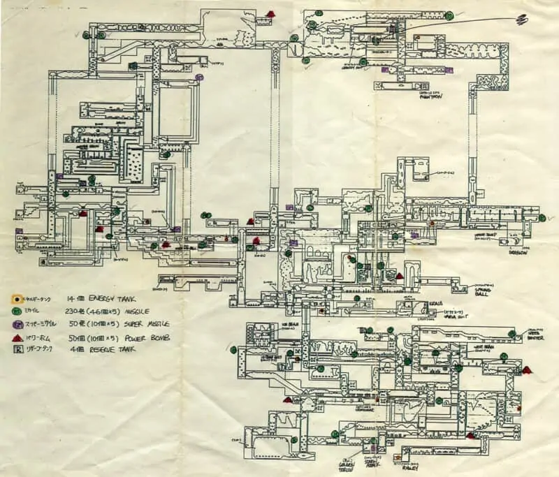 super metroid dev map FULL