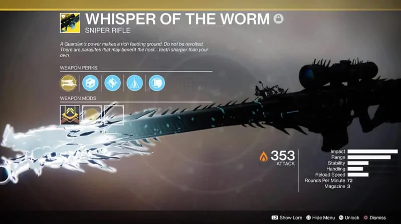 Whisper of the Worm Sniper Rifle