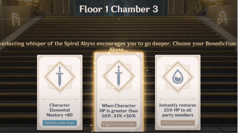 Floor 1 Chamber 3 of Genshin Impact's Spiral Abyss