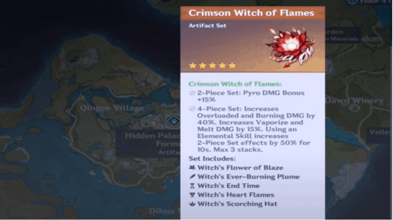 Crimson Witch of Flames Artifact
