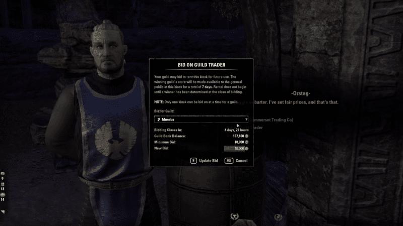 Trading in Elder Scrolls Online