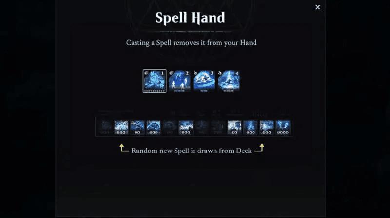 Magic Legends Spell hand