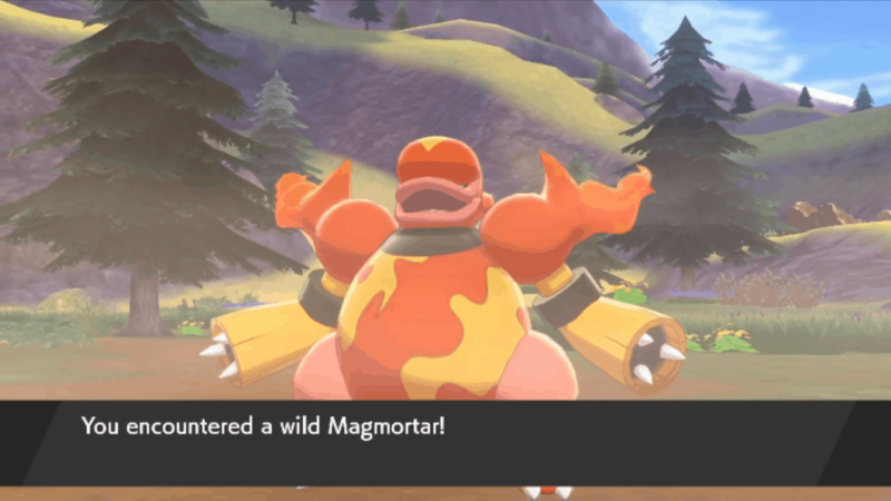 You can also encounter and catch Magmortar in the wild