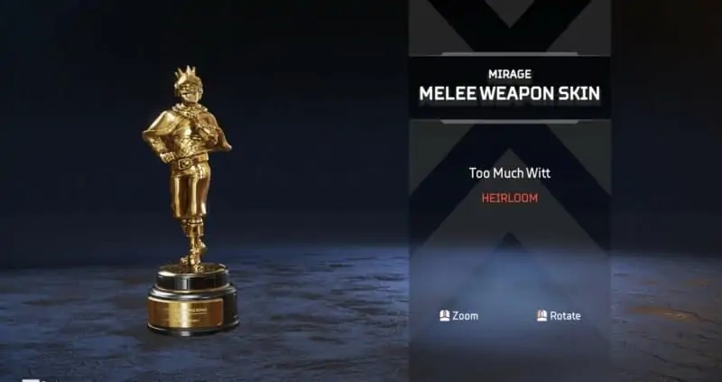 Mirage's Heirloom Trophy