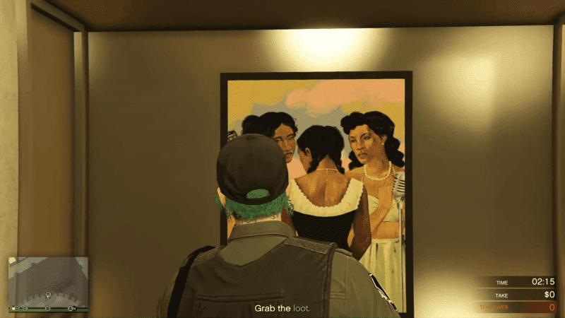 Artwork inside the Dimond Casino Vault