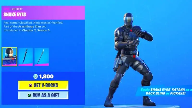 Snake Eyes Unlock Fortnite 2