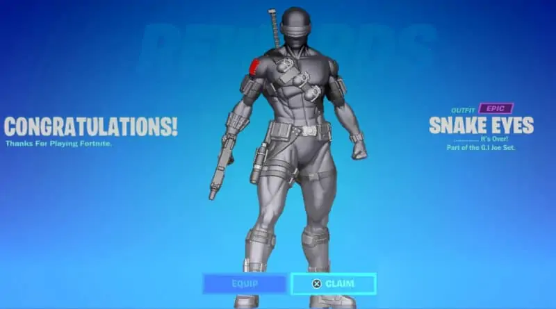 Snake Eyes Unlock Fortnite