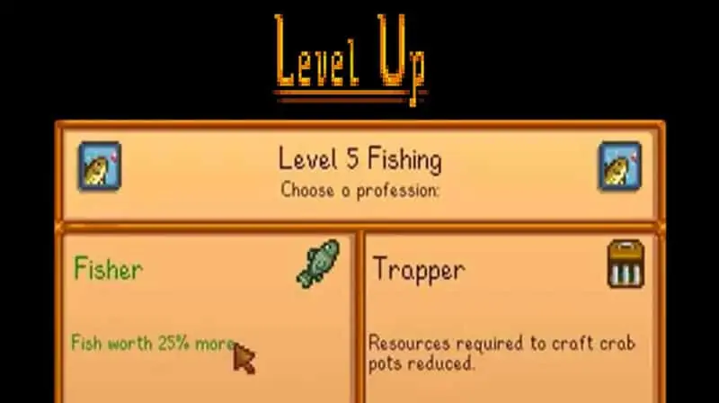 Stardew Valley Fishing Level 5 Perks
