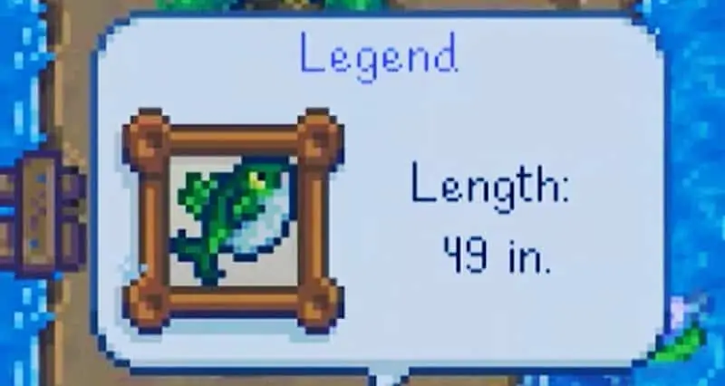 Stardew Valley Fishing The Legend Caught