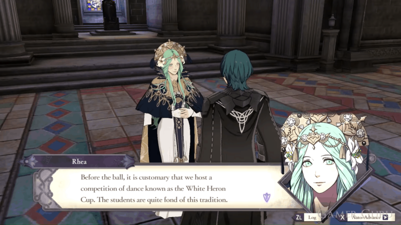 Talk to Rhea to unlock the White Heron Side Quest