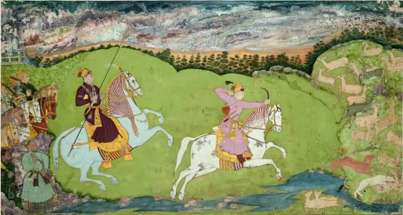 A painting from the Delhi Sultanate