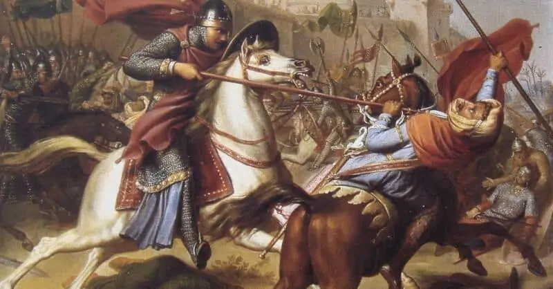 A painting from the first crusade