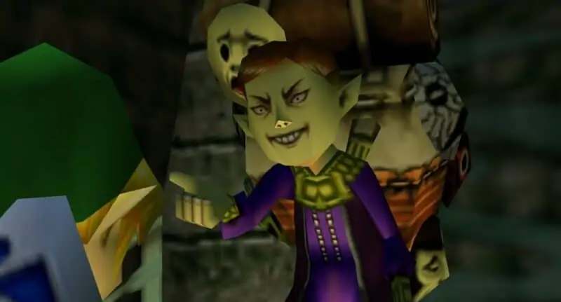 Happy Mask Salesman from Zelda Majora's Mask