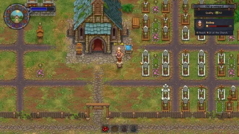 The Episcop is the first NPC and Quest Line that you encounter in the game