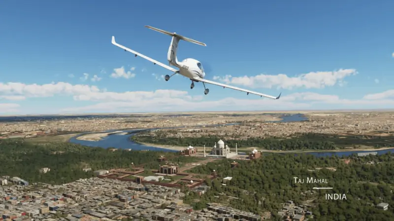 Microsoft Flight Simulator - Taj Mahal
