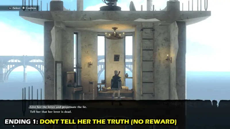 Don't tell her the truth and perpetuate the lie