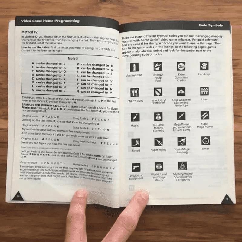 The original Game Genie guide for the NES