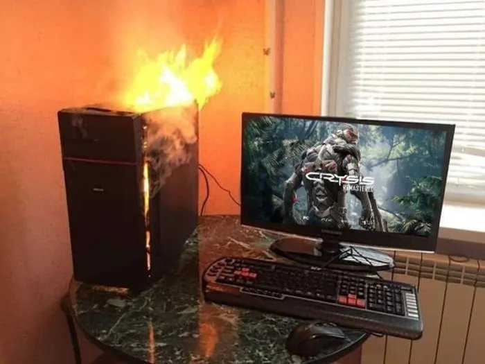 PC on Fire