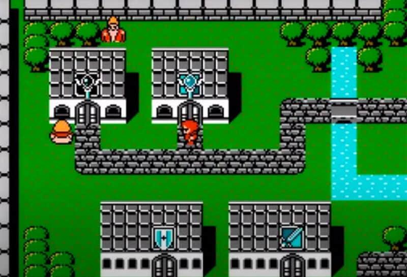 Final-Fantasy-Pixel-Remaster-FFI-Town-NES