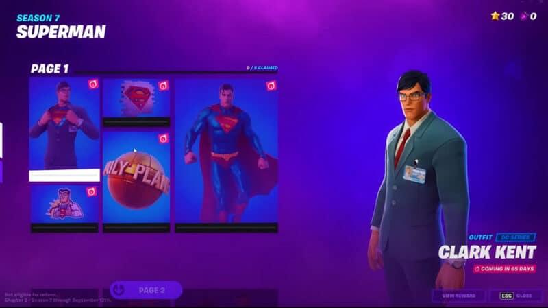Fortnite-Chapter-2-Season-7-Superman-Skin-Pack