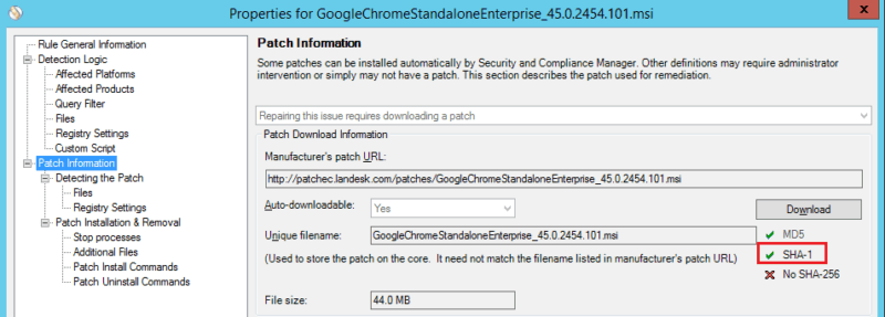 Manually Downloading Patches