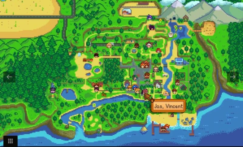 NPC Map Locations Mod for Stardew Valley