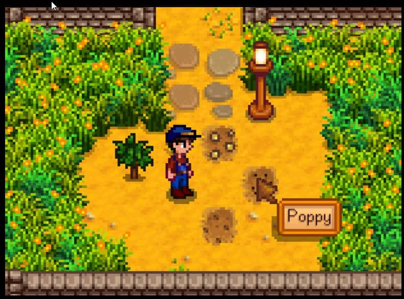 Simple Crop Label Mod for Stardew Valley Mod