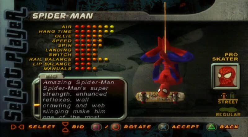 Sony-Playstation-Tony-Hawk-Pro-Skater-2-Spidey