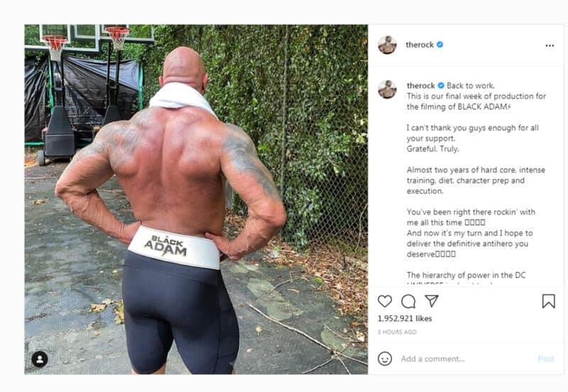 Black-Adam-DC-Comics-Dwayne-Johnson-Instagram-Training