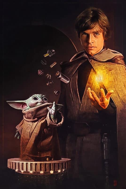Star-Wars-Grogu-Baby-Yoda-Jedi-Grand-Master-Luke-Skywalker-ComicCon